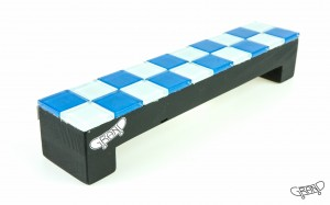 GF Bench – Mosaics – chess blue/black