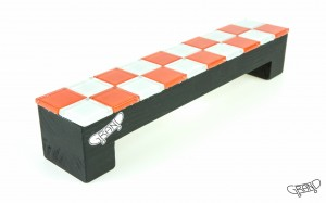 GF Bench – Mosaics – chess red/black