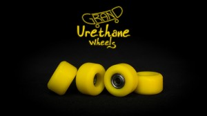 Grand Fingers Urethane bearing wheels - yellow