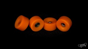 Grand Fingers Urethane bearing wheels MONSTER 9,66 - orange