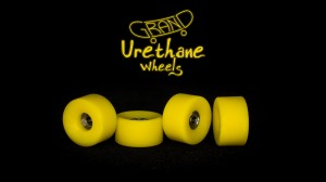 Grand Fingers Urethane bearing wheels MONSTER 9,66 - yellow